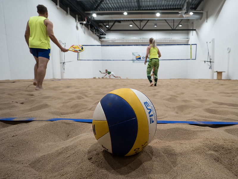 Beach Volley hallilla ei talvea tunneta